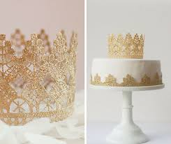 This Gold & Lace Cake Topper is so beautiful Would be nice for a