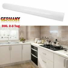 5m weiß möbelfolie hochglanz glänzend glanz klebefolie