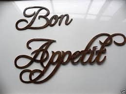 Custom Made Bon Appetit Words Medium Sized 10 18 Wide