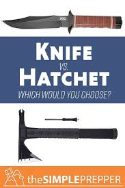 Knife Vs Hatchet You Can Only Have One