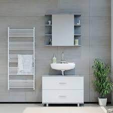 vicco badmöbel set badmöbel set ilias weiß beton bad spiegel unterschrank badschrank kaufen otto
