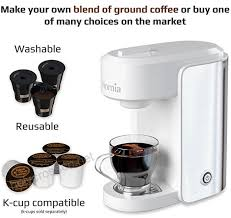 Coffee Maker Machine Electric Single Serve Brewer For Ground And K Cup Ompatible 10