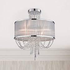 bestier modern chrom kristall regentropfen trommel kronleuchter beleuchtung unterputz led deckenleuchte pendelleuchte für esszimmer badezimmer