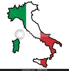 Italy Clipart Map 4