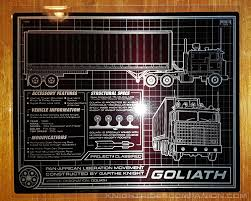 GOLIATH SCHEMATIC 8 X 10 METAL PLATE | Knight Rider Companion
