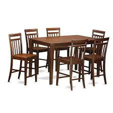 7 Pc Pub Table Set- Counter Height Table And 6 Stools. By East West  Furniture