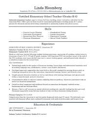 Resume Examples Without Education Combined With Elementary School Teacher Template To Prepare Cool Samples