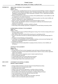 Download Contract Management Resume Sample As Image File