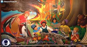Denver Airport Murals Conspiracy Debunked by World U0027s 10 Weirdest Conspiracy Theories From Mind Control And