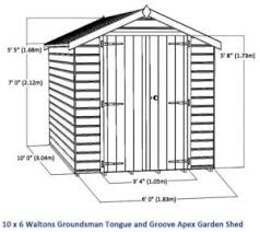 10 x 6 waltons windowless groundsman tongue and groove apex garden