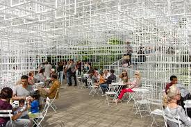 Harlem Hospital Mural Pavilion Address by Serpentine Gallery Pavilion 2013 Sou Fujimoto Detail Entrance Jpg