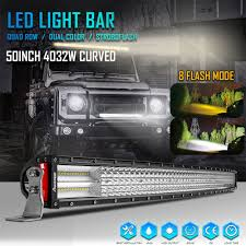 8 Mode CURVED 50 Inch 4032W Dual Color LED Light Bar Quad Row ... 19992006 Gm Truck And Suv How To Install An Led Light Bar On The Roof Of My Truck Better Offroad Light Bars For Trucks Atvs More Rebelled Lights 12 Inch 162w Led Bar Car 4x4 Suv Atv 4wd Trailer Are Caps Partners With Rigid To Shine Bright 02017 Dodge Ram 23500 40inch Curved Bumper Galore Need Mounting Options Rc Truck 130mm 5 Inch 110 Scale Crawler Scx10 Mounted Under Front Bumper Ford F150 Forum 40 200w Spotflood Combo 15800 Lumens Cree 50inch Philips Flood Spot Driving Lamp 4wd 6 Mini 18w 12v 24v Cars Trucks