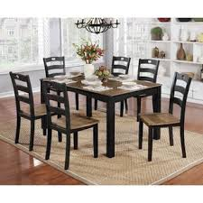 Hoyle Transitional 7 Piece Dining Table Set