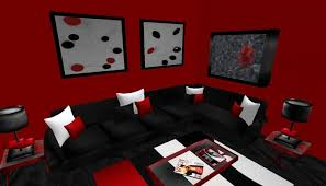 black red and silver dining room red black and silver living room