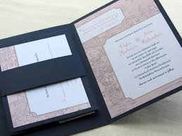Vintage Wedding Invitation Booklet