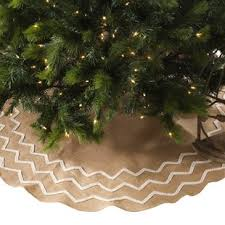 Beaded Burlap Christmas Tree Skirt