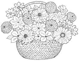 Coloring Pages Bouquet Flowers Free Printable For Girls Boys 45416