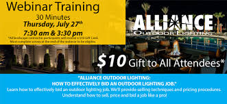 ALLIANCE OUTDOOR LIGHTING HOW TO PRICE OUTDOOR LIGHTING Webinar 7