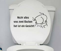 wc deckel aufkleber 25x12cm gesicht toiletten badezimmer sticker 1k261