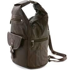 womens leather backpack purse sling shoulder bag handbag 3 in 1