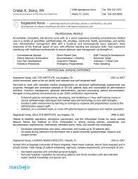 Nursing Resume Examples With Clinical Experience New Grad Rn Nurse Service