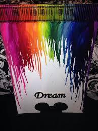 Melted Crayon Disney Art Decor DIY