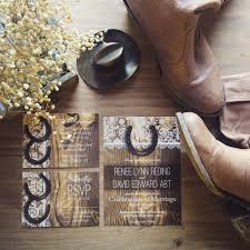 Rustic Horseshoe Wedding Invitation Country By StagDoeandFawnStudio On Etsy