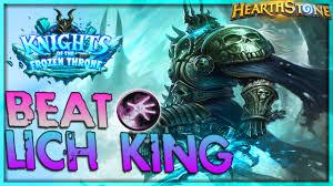 warlock beat the lich king 1st try hearthstone top decks