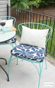 porch makeover progress diy outdoor chair cushions atta says