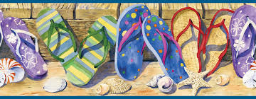 Brewster Wallpaper Brown Beach Sandals Border Search Results