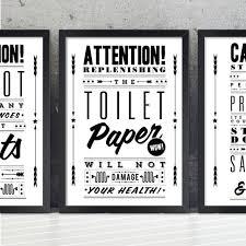 Small Images Of Bathroom Artwork Ideas Accessories Original Toilet Paper Retro Notice Art