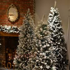 7ft Christmas Tree Uk by 6ft 7ft Or 8ft Premier Snow Valley Fir Deluxe Snow Flocked