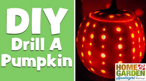 Drilled Pumpkin Designs by How To Drill A Pumpkin In 30 Seconds Youtube