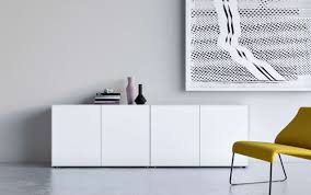 piure nex pur box sideboard mit drehtüren 240 x 77 3 x 48 cm weiss matt