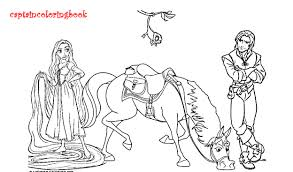 Horse Maximus From Tangled Disney Printable Coloring Page