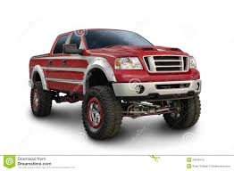 Big Red Ford Truck Stock Photo. Image Of Tire, Headlight - 26246412