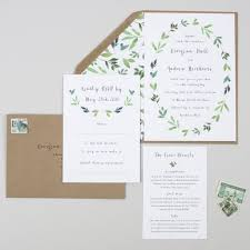 Botanical Garden Wedding Invitation