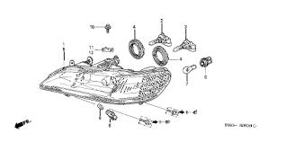 honda store 2002 accord headlight parts