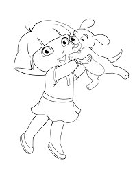Pictures Of Dora To Color Kids Coloring