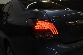 07 11 toyota yaris 4dr sedan led lights smoked 111 tya074d