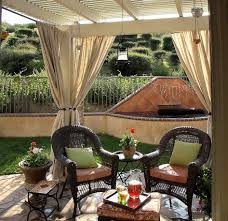 creative outdoor patio curtains and shades from corrugated
