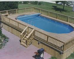 Above Ground Pool Deck Images by Outdoor Beautiful Design Above Ground Swimming Pools With Decks