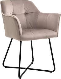 esszimmer armlehnstuhl samt taupe metallbeine schwarz kirin
