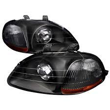 96 98 honda civic retro style projector headlights black