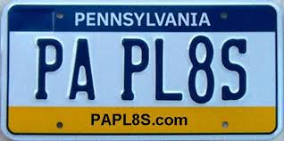 PA PLATES Pennsylvania License Plates