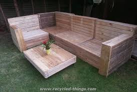 Plans For Pallet Patio Furniture by Patio Furniture From Pallet Wood Recycled Things