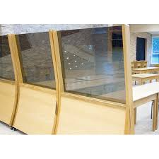 Modern Mechitza with e Way Mirror Bass Synagogue Furniture