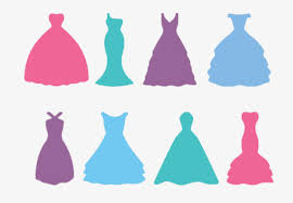 Wedding dress silhouette Pink Green Purple Free PNG and PSD