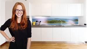 glasrückwand küche küchenrückwand farbig glasposter