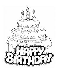 Large Birthday Cake For Kids Coloring Pages Printable Birthdays